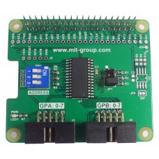 MCP23017 I/O Expander HAT for Raspberry Pi