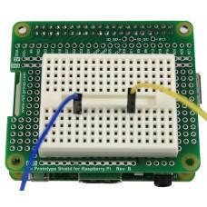 Tie Prototype Shield Rev.B & Breadboard for Raspberry Pi B+ / A+ / Pi 2