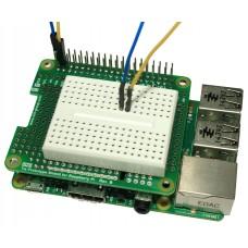 Tie Prototype Shield Rev.B & Breadboard for Raspberry Pi B+ / A+ / Pi 2 (Extra Tall)