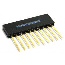 10pin 2.54mm Long Stackable Female Header for Arduino R3 (Extra Tall)