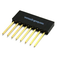8pin 2.54mm Long Stackable Female Header for Arduino (Extra Tall)
